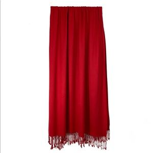 Accessories - Red Scarf with tassels